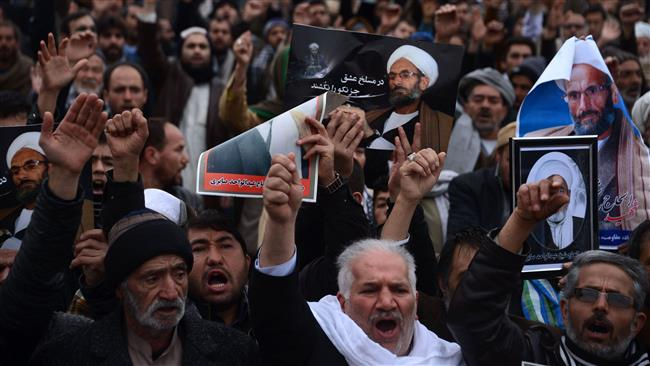 Photo of Afghan's protest ISIS sectarian divisions