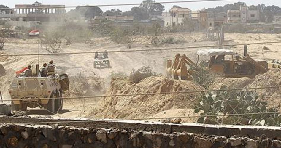 Photo of Zionist Egyptian regime destroys 12 tunnels at Gaza borders