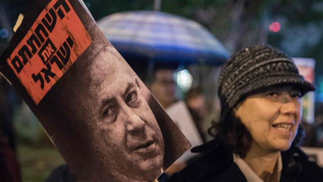 Photo of Protesters call on Netanyahu to resign over corruption allegations
