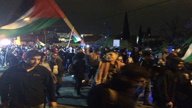 Photo of Palestinians rally against terrorist occupation regime's home demolitions