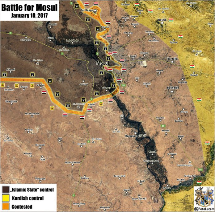 Photo of Iraqi forces liberate district in eastern Mosul: map