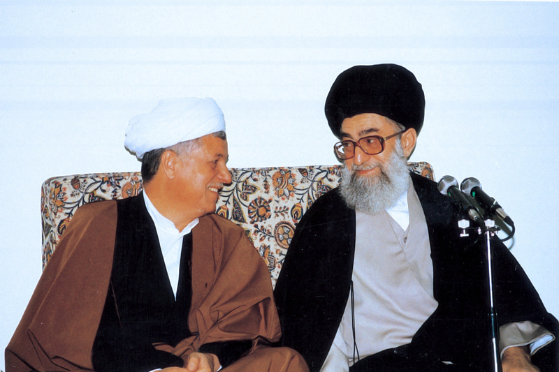 Photo of Sayyed Imam Ali Khamenei and Late Ayatollah Rafsanjani in pictures