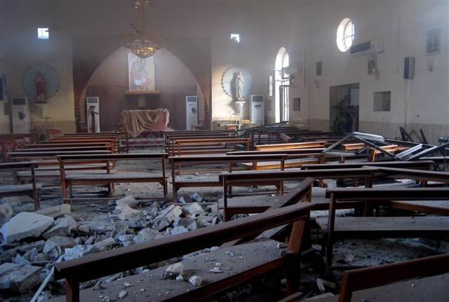 Photo of Terrorists shell Church in Deraa, Syrian Army returns artillery fire