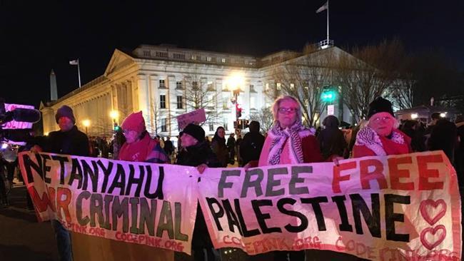Photo of Americans rally against Netanyahu: 'Bibi go home'