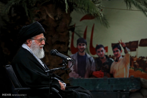 Photo of Leader of Islamic Ummah and Oppressed Imam Ali Khamenei: Admitting weakness would embolden enemy to attack