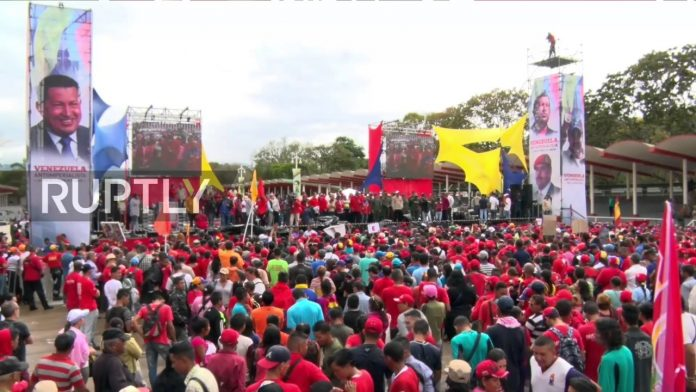 Photo of VIDEO: Venezuelan President Maduro leads rally in celebration of Anti-imperialist Day