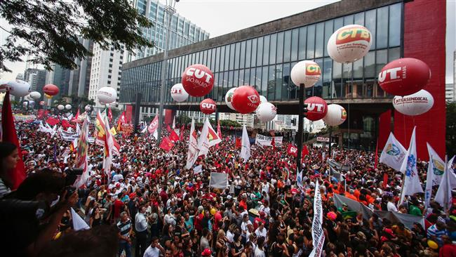 Photo of Video-Massive protests against austerity in Brazil