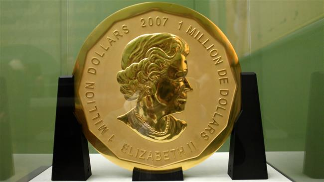 Photo of 100-kg pure gold coin stolen from Berlin museum
