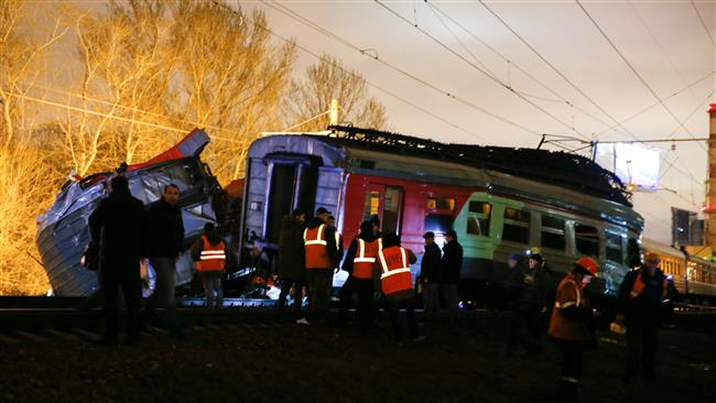 Photo of Dozens injured as two trains collide in Moscow