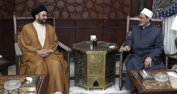 Photo of Sayyed Hakim to Grand Imam of Azhar: PMF Units Fight Terror, Help Refugees