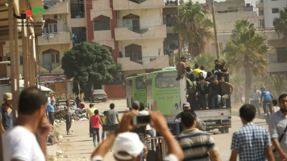 Photo of 936 Gunmen and Some of Their families Leave Al-Waer
