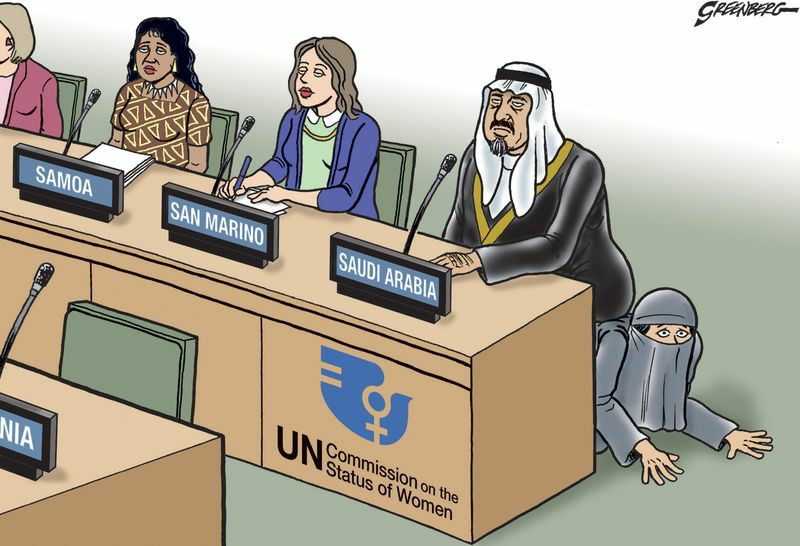 Photo of Caricature- Saudi Arabia in Women's Rights Committee of the United Nations