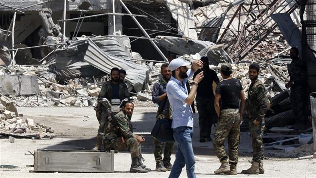 Photo of Syrian army declares al-Qaboun a safe area