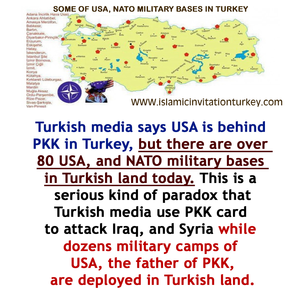 Photo of Turkey attack Iraq and Syria by using PKK card while the military bases of PKK are deployed in Turkish land.