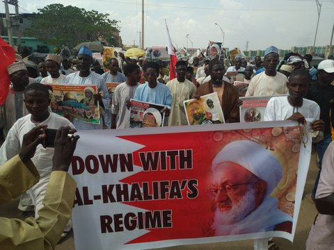 Photo of Photos- Nigerian Muslims condemn Bahrain attrocites