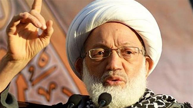 Photo of Shroud-clad Bahrainis rally ahead of cleric's trial
