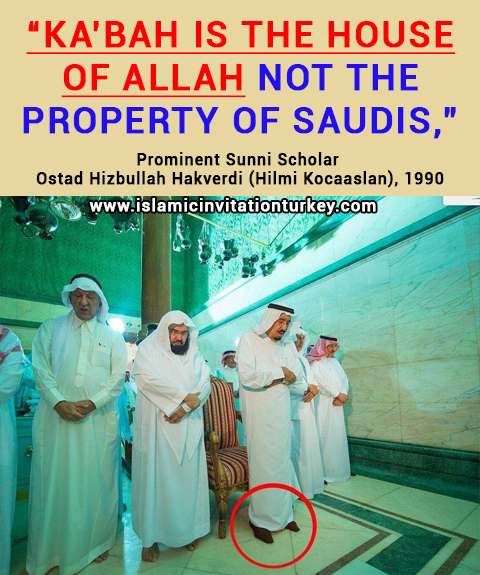 "Photo of Prominent Sunni Scholar, ""Ka'bah is the house of Allah not the property of Saudis,"""