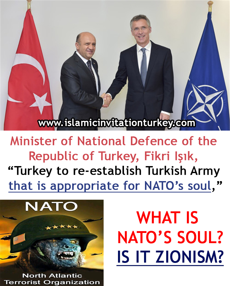 "Photo of Minister of National Defence of the Republic of Turkey,""Turkey to re-establish Turkish Army that is appropriate for NATO's soul,"""