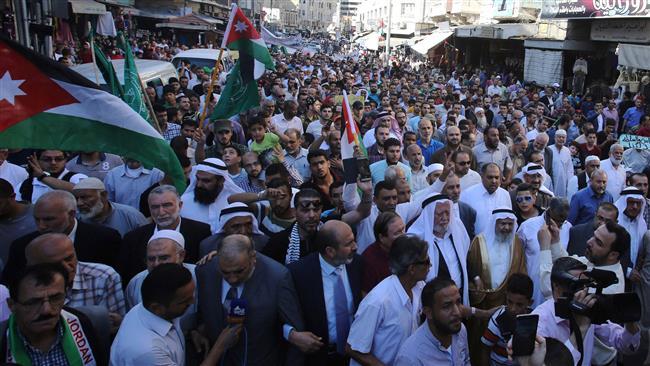 Photo of Jordanians protest Israel's shutdown of al-Aqsa