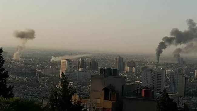 Photo of Multiple blasts, mortar rounds hit Damascus