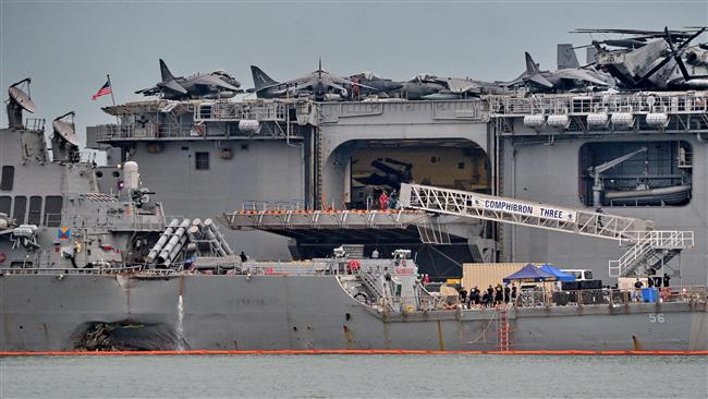 Photo of Bodies of all 10 missing US sailors on USS John McCain recovered
