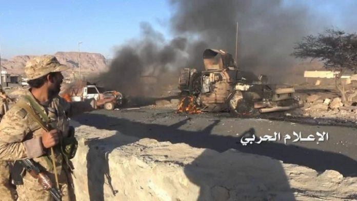 Photo of Zionist Saudi led troops killed and two vehicles destroyed in Sarawah of Marib