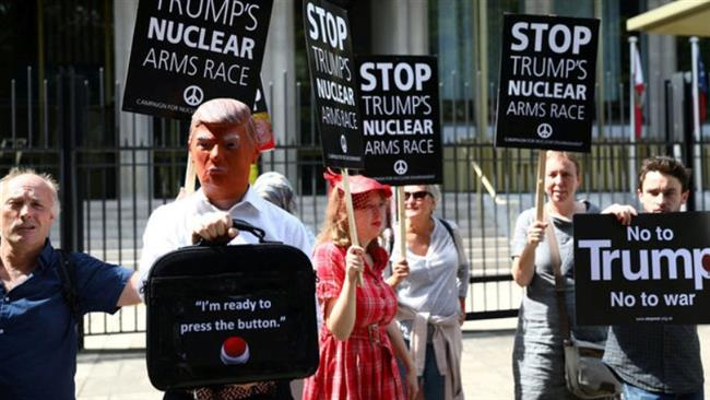 Photo of Anti-war campaigneres call on Trump to avoild military action against North Korea