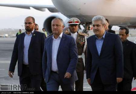 Photo of Moldavian president in Tehran to attend Rouhani inauguration