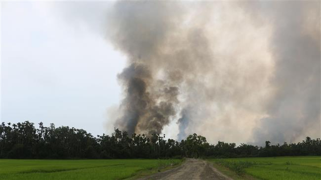 Photo of New fires in Rohingya village refute Myanmar government claims