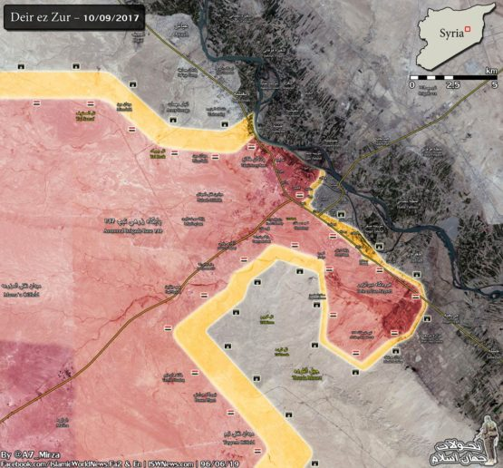 Photo of Map: Latest battle update from Deir Ezzor