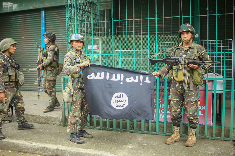 Photo of 600 ISIS insurgents neutralized by Philippine Army during battle for Marawi
