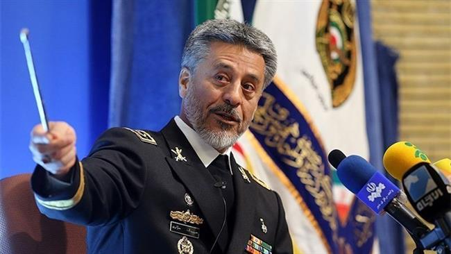 Photo of Iran Navy chief to US troops: Don't exceed your limits