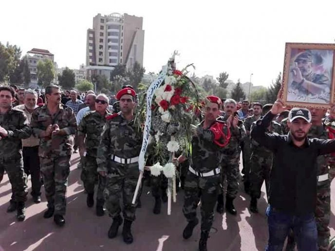 Photo of Prominent Syrian General Issam Zahreddine laid to rest in Sweida