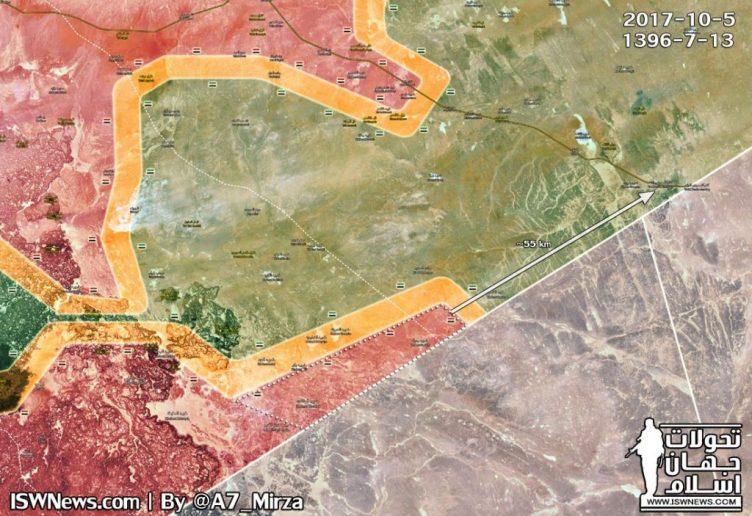 Photo of Syrian Army within 55km of US base in southern Syria – map