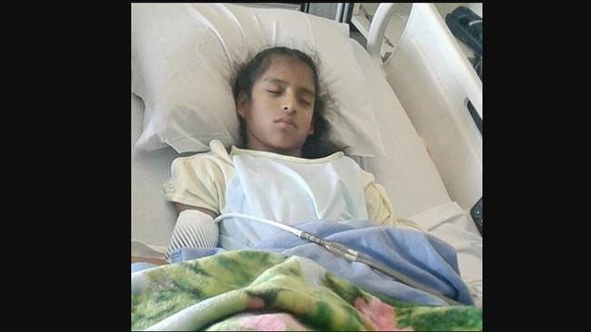 Photo of 'Undocumented' 10-year-old girl with cerebral palsy arrested in US after surgery