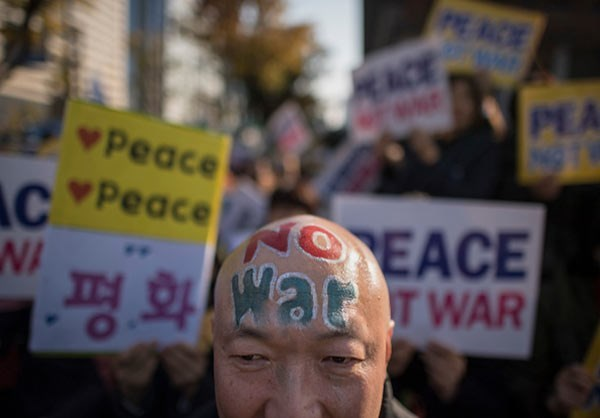Photo of 'No Trump, No War': South Koreans Rally for Peace Ahead of Trump's Visit- Photos