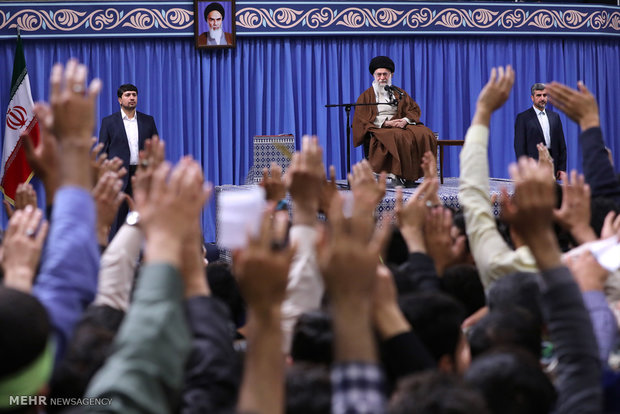 Photo of Leader of Islamic Ummah and Oppressed Imam Khamenei: Wrecking JCPOA proves US hostility to Iranian nation