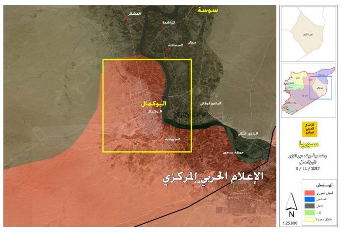 Photo of Updated map of ongoing battle in southeast Deir Ezzr