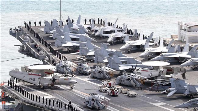 Photo of Satanic US, S. Korean regimes' navies launch war games aimed at Korea