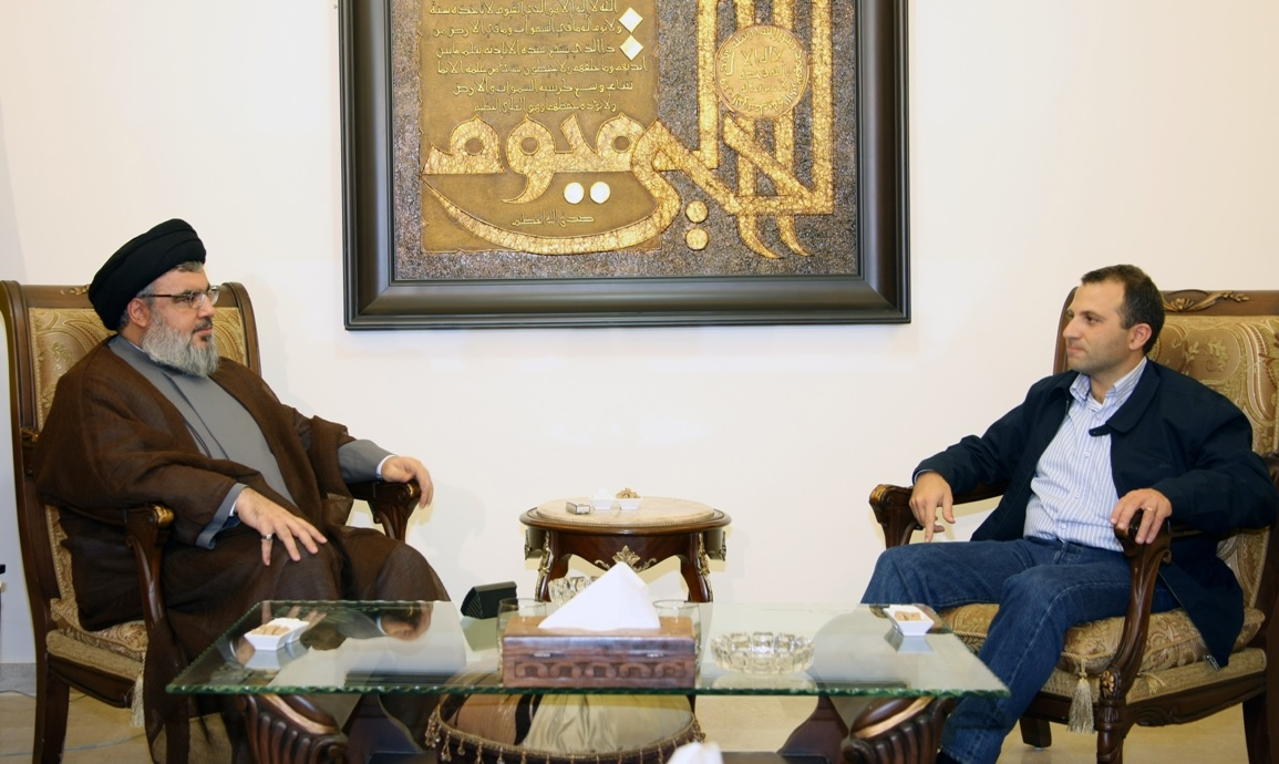 Photo of Sayyed Nasrallah Discusses with Lebanon's FM Latest Developments