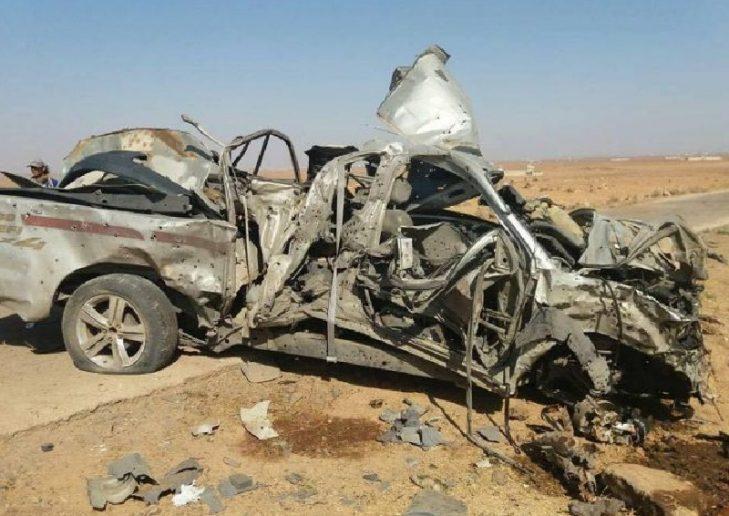 Photo of Truck full of Nusra terrorists blown up in Hama