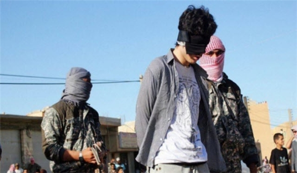 Photo of 45 Al-Nusra Gunmen Executed by Rival Terrorists in Eastern Damascus