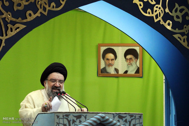 Photo of Tehran Friday Prayers Cleric vows increasing range of missiles