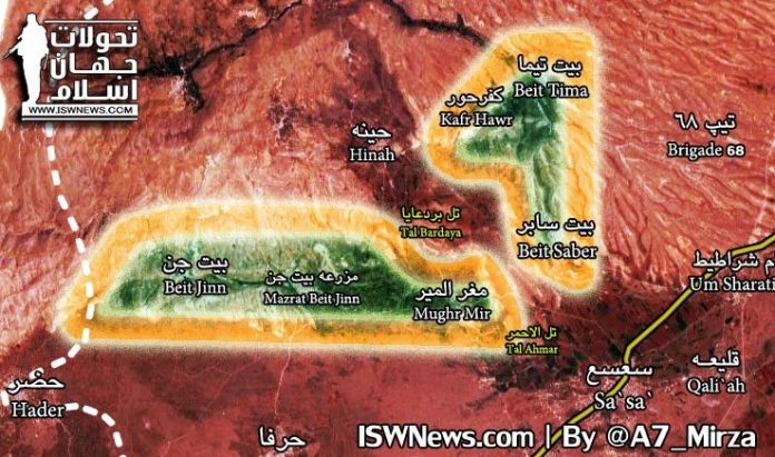 Photo of Latest battle update from the Golan Heights region: map