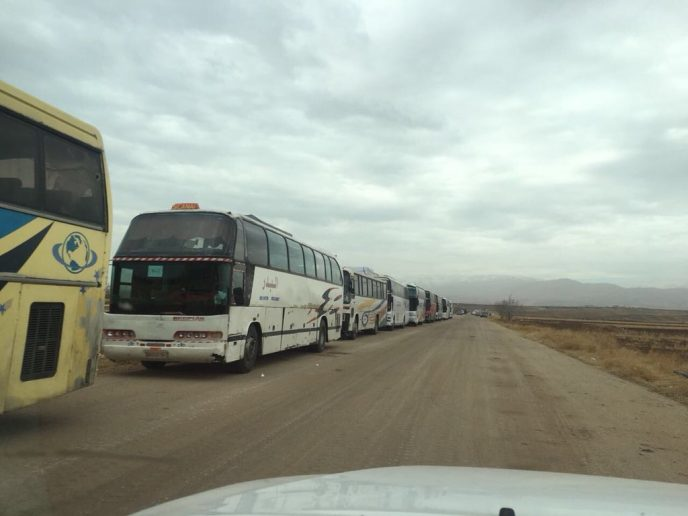 Photo of Dozens of terrorists leave strategic enclave near occupied Golan Heights
