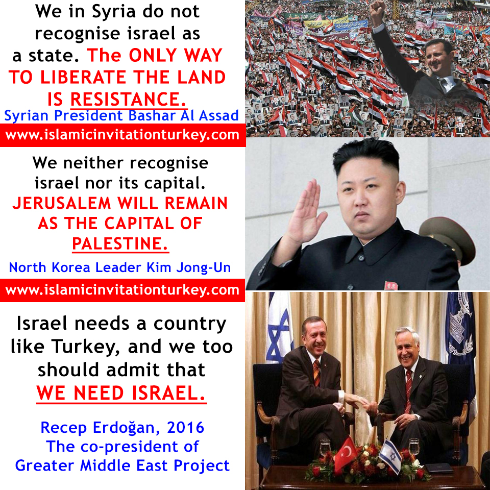 Photo of Assad, Jong-Un's statements against Zionism and Erdogan's for.