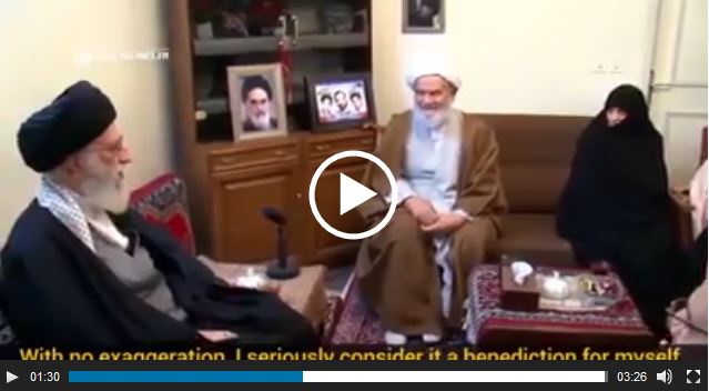 Photo of WATCH  Imam Khamenei is with families of Martyrs