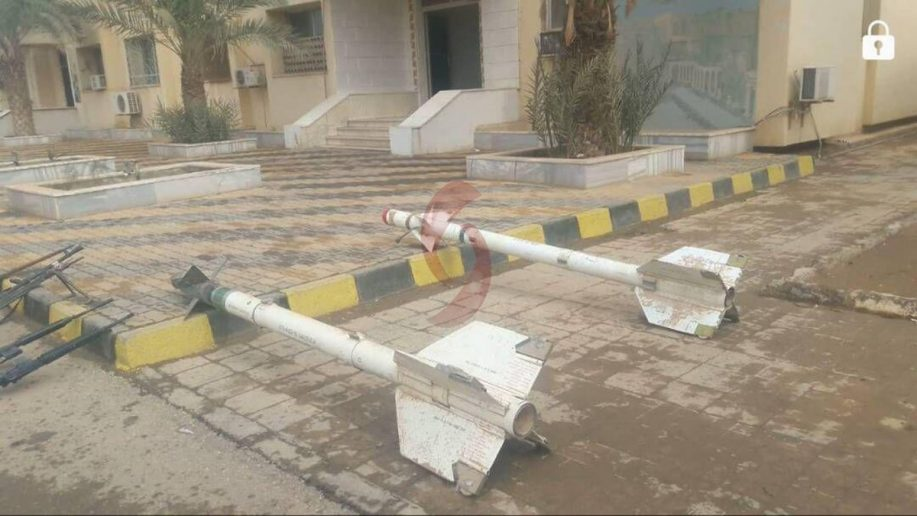 Photo of ISIS jet-fired air-to-air missiles seized by the Syrian Army in Deir Ezzor