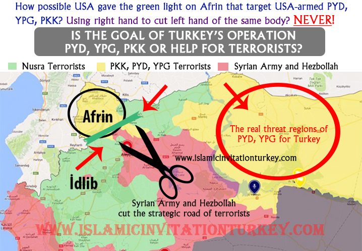 Photo of Excl- Is the target of Olive-Branch Afrin Operation of Turkey against Afrin PKK, PYD, YPG or Syria?