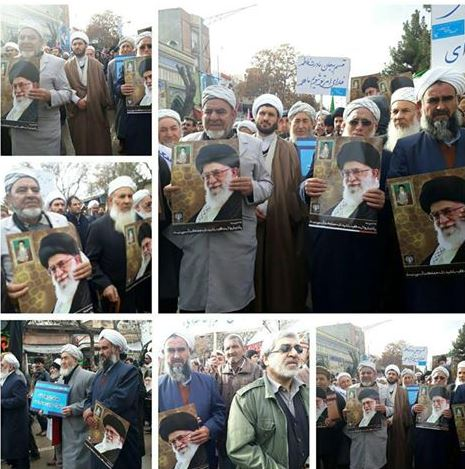Photo of Photos- Sunnis in Iran and prominent Sunni figures show solidarity to Iranian Government and Imam Khamenei